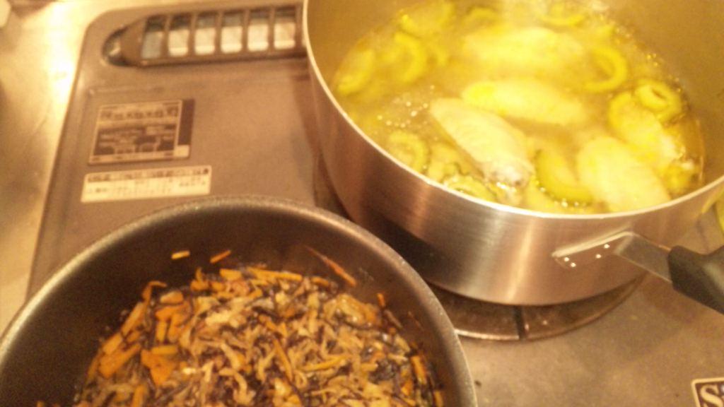 ゴーヤスープと切り干し大根
