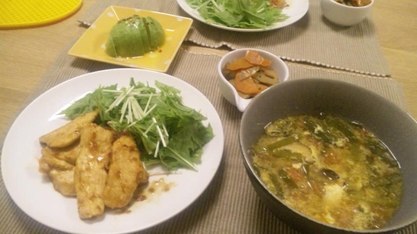 鶏むね肉の生姜焼