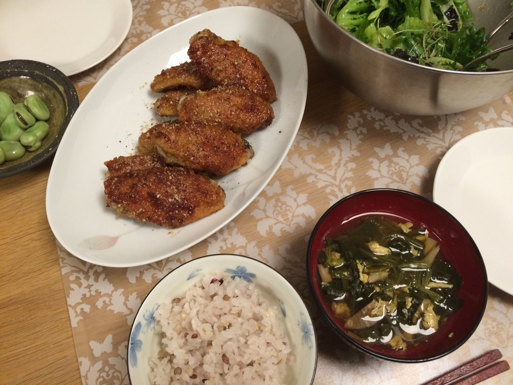 久しぶりの手料理☆手羽先☆